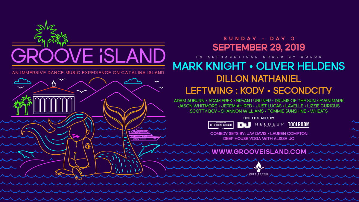 Groove Island Saturday Lineup