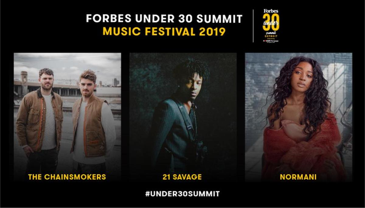 Forbes Under 30 2019 Summit Music festival