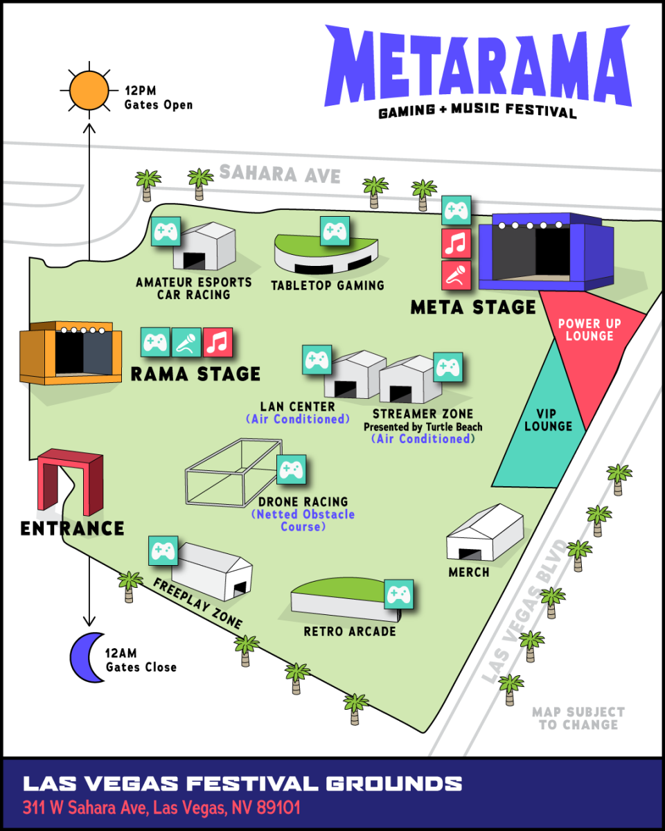 Metarama Gaming + Music Festival - Map