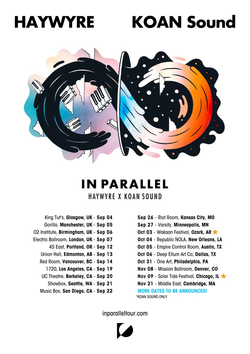 Haywyre & KOAN Sound - In Parallel Tour Flier