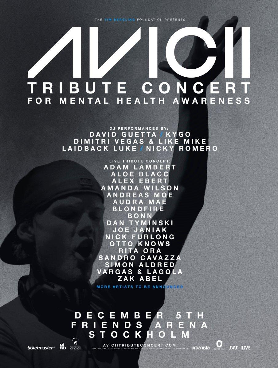 Avicii Tribute Concert Lineup