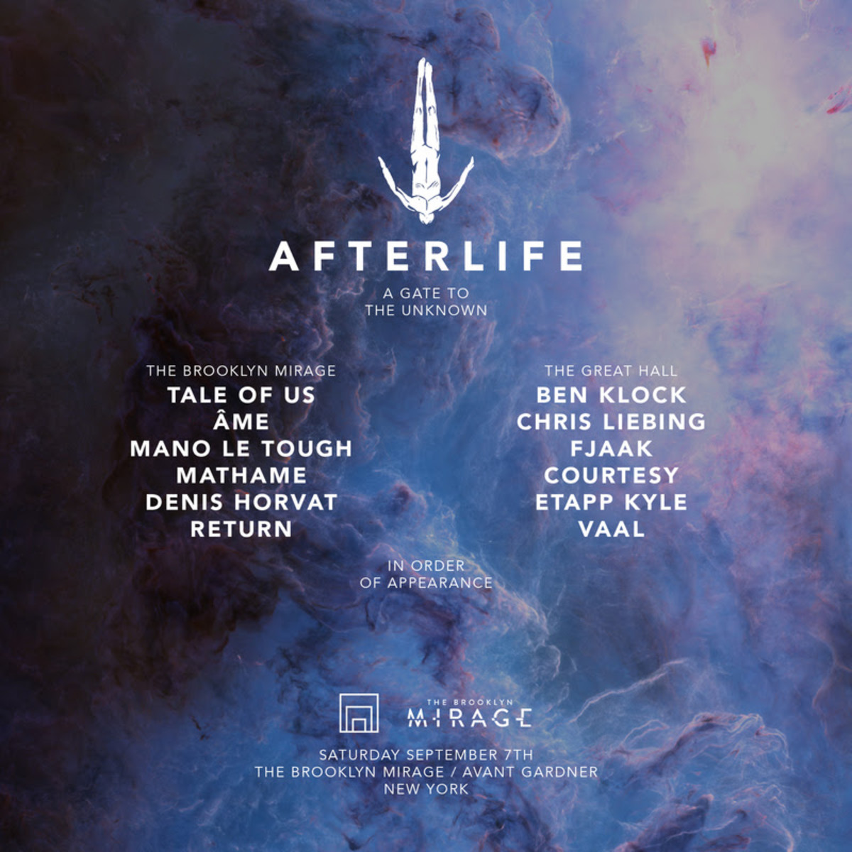 Afterlife Brooklyn Mirage Lineup
