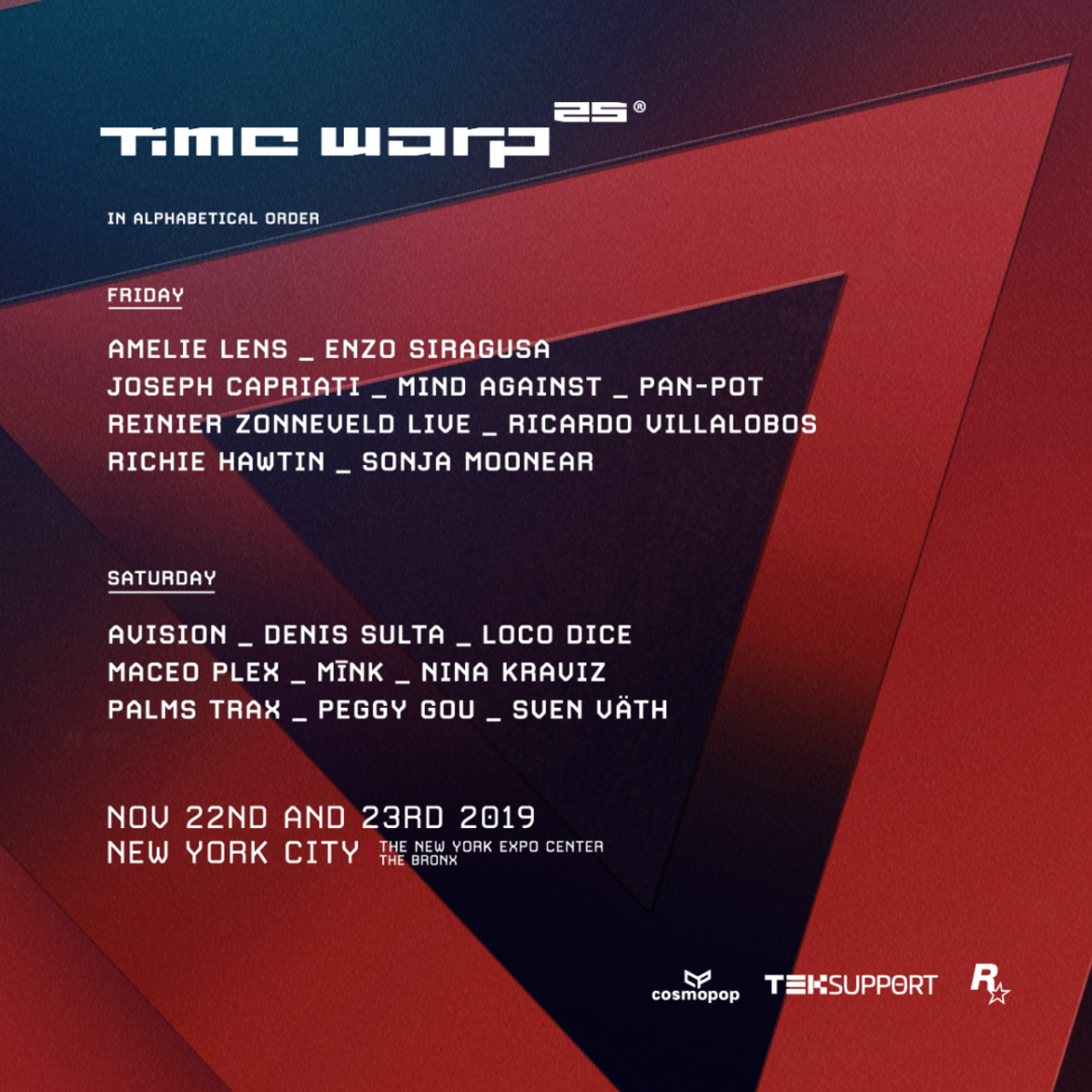 Time Warp NYC 2019 Lineup