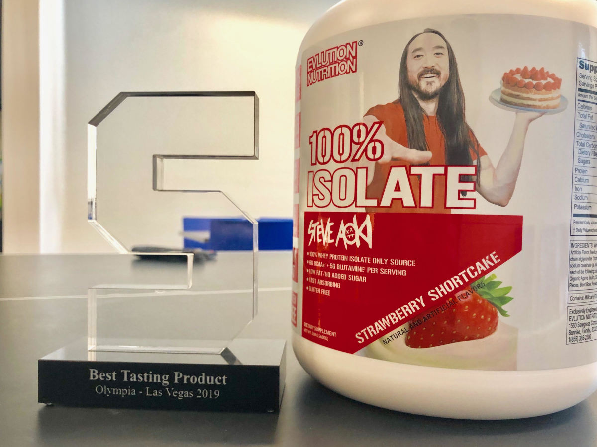 Steve Aoki - EVLution Nutrition - 100% Isolate
