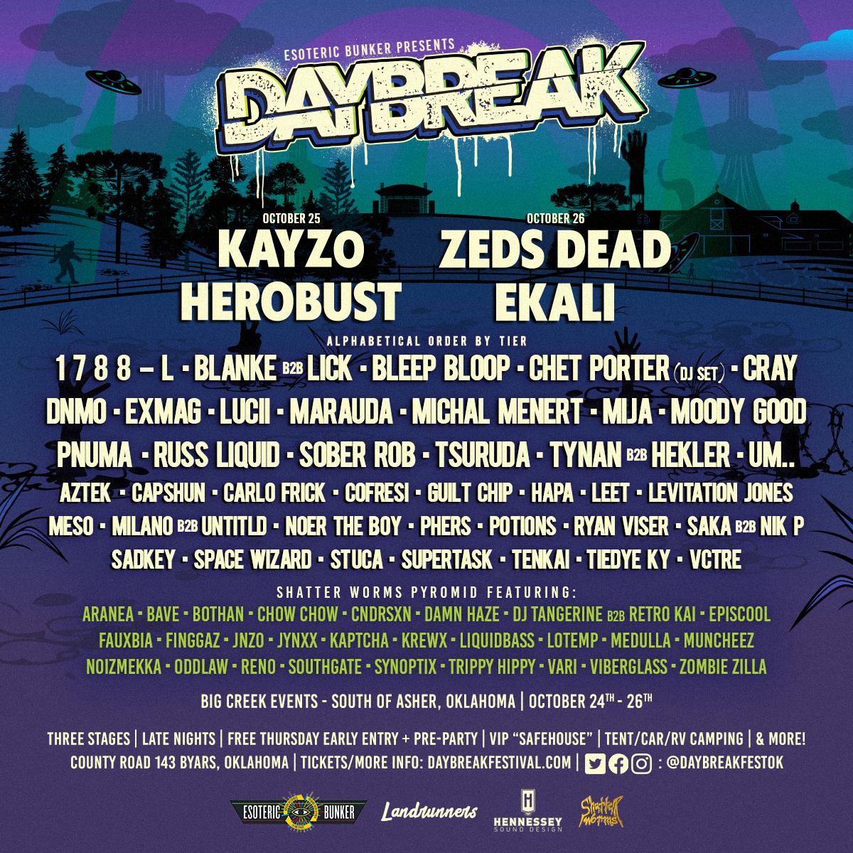 Daybreak Festival Lineup 2019