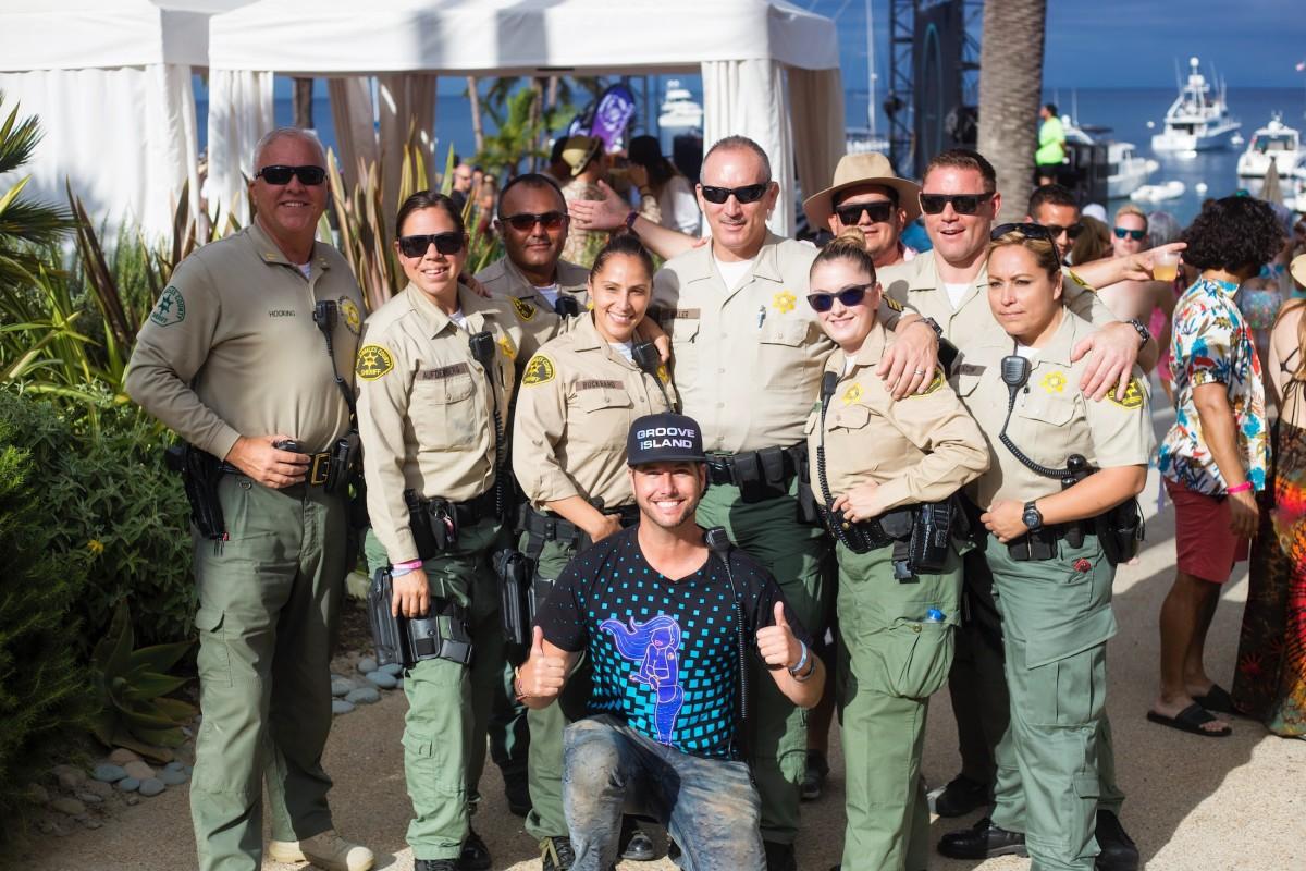 Catalina Sheriffs & Jason Beukema (Founder of Groove Island)