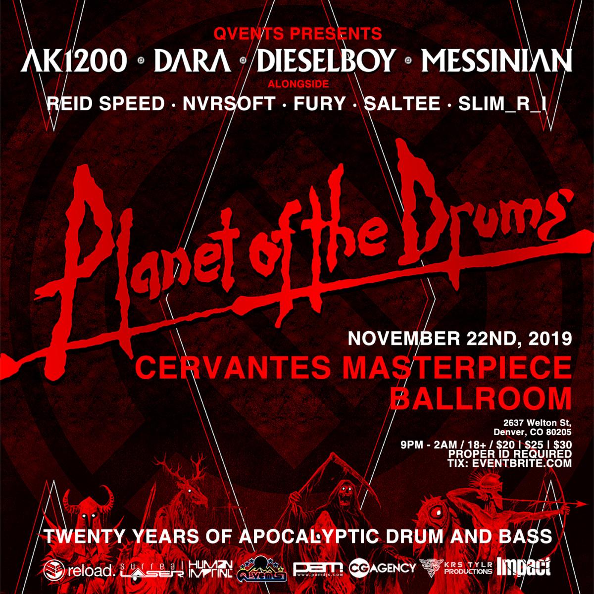 Planet Of The Drums - ADMAT (Ak1200, Dara, Dieselboy, Messinian, Reid Speed)