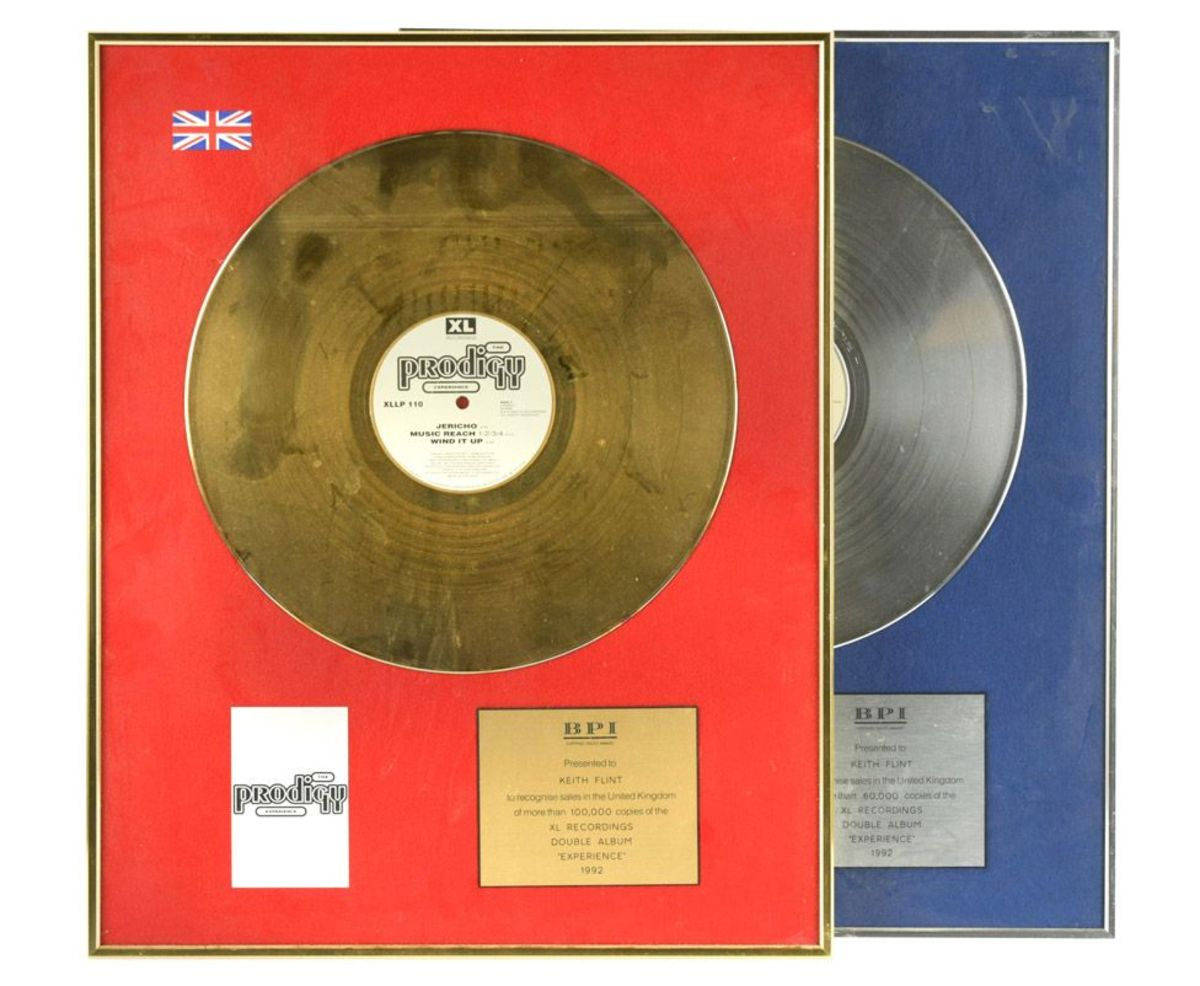 Gold and Silver Record Awards for The Prodigy's album Experience