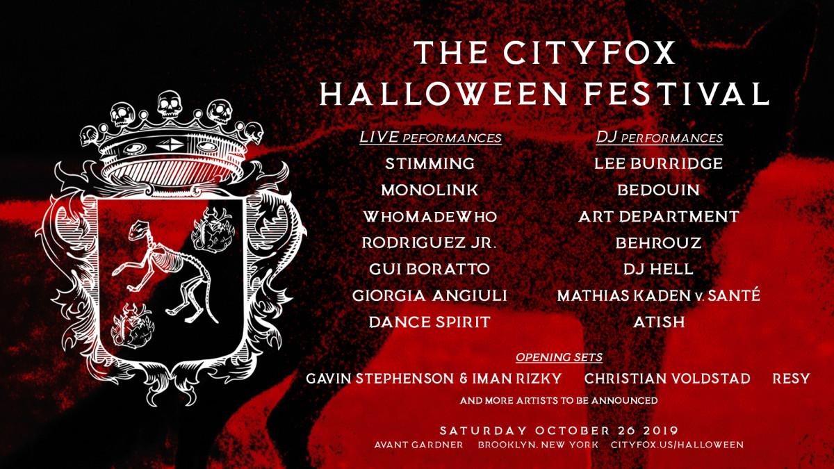 Cityfox Halloween 2019 Lineup