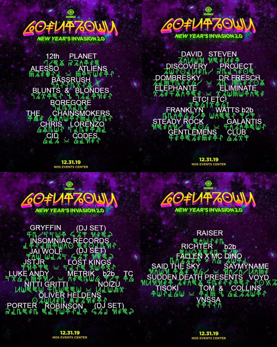Countdown NYE Lineup - Photo via EDM Identity