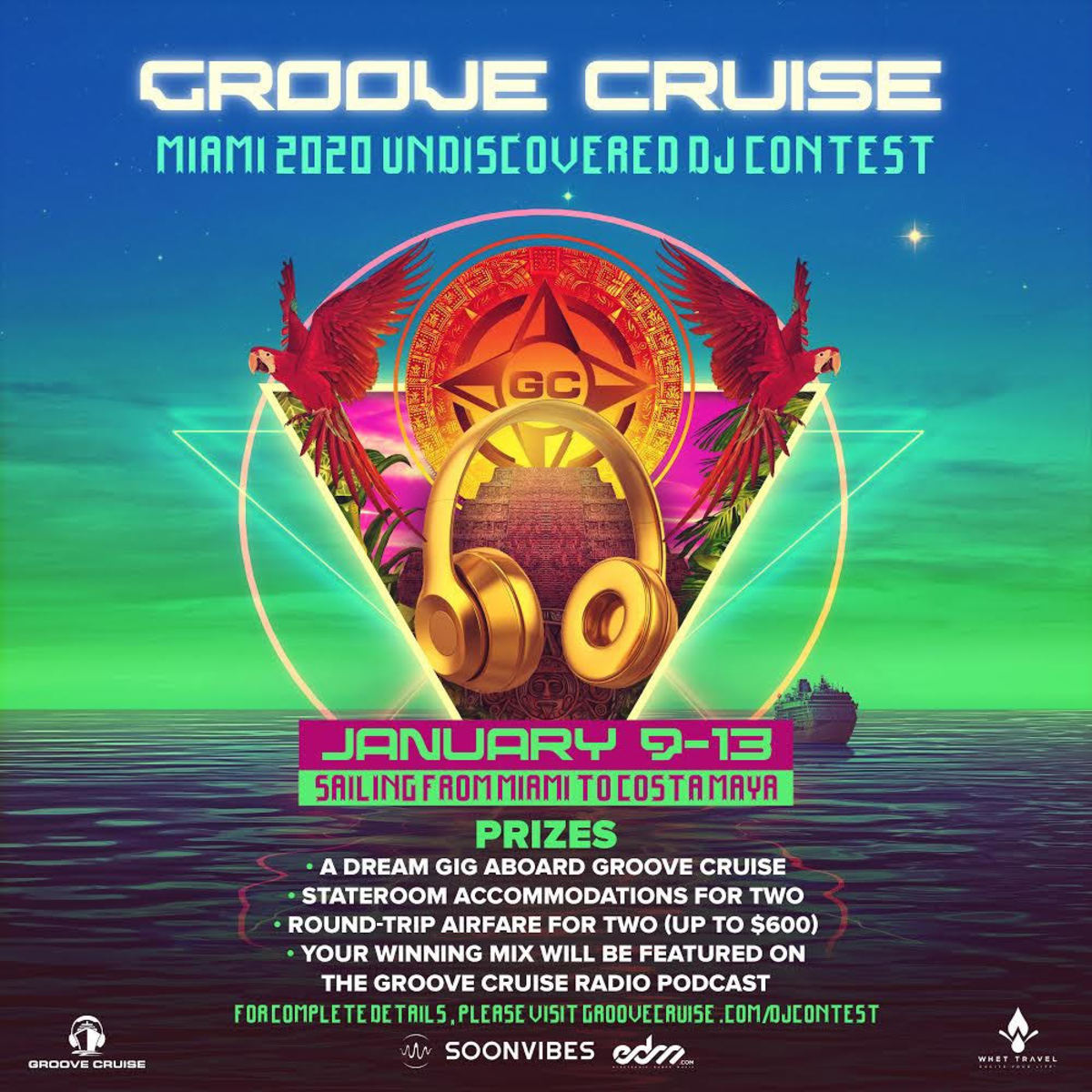 Groove Cruise Miami 2020 DJ Contest flyer