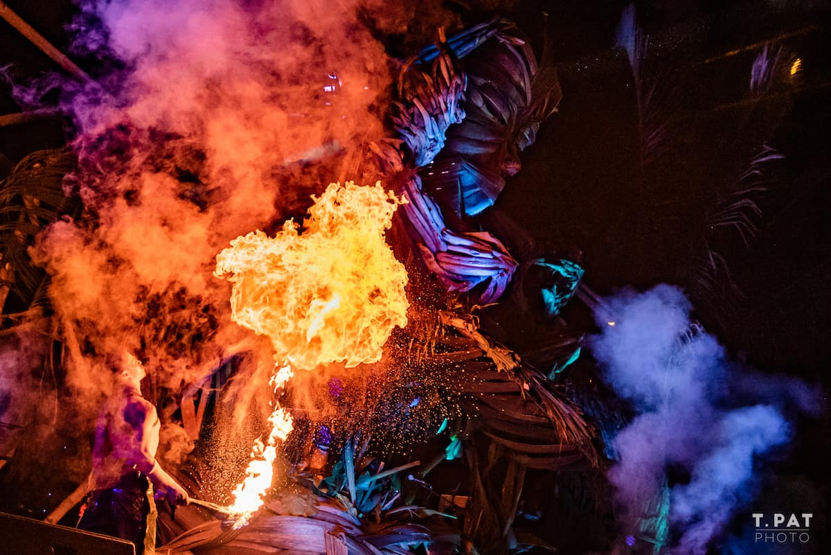 envision festival fire blower