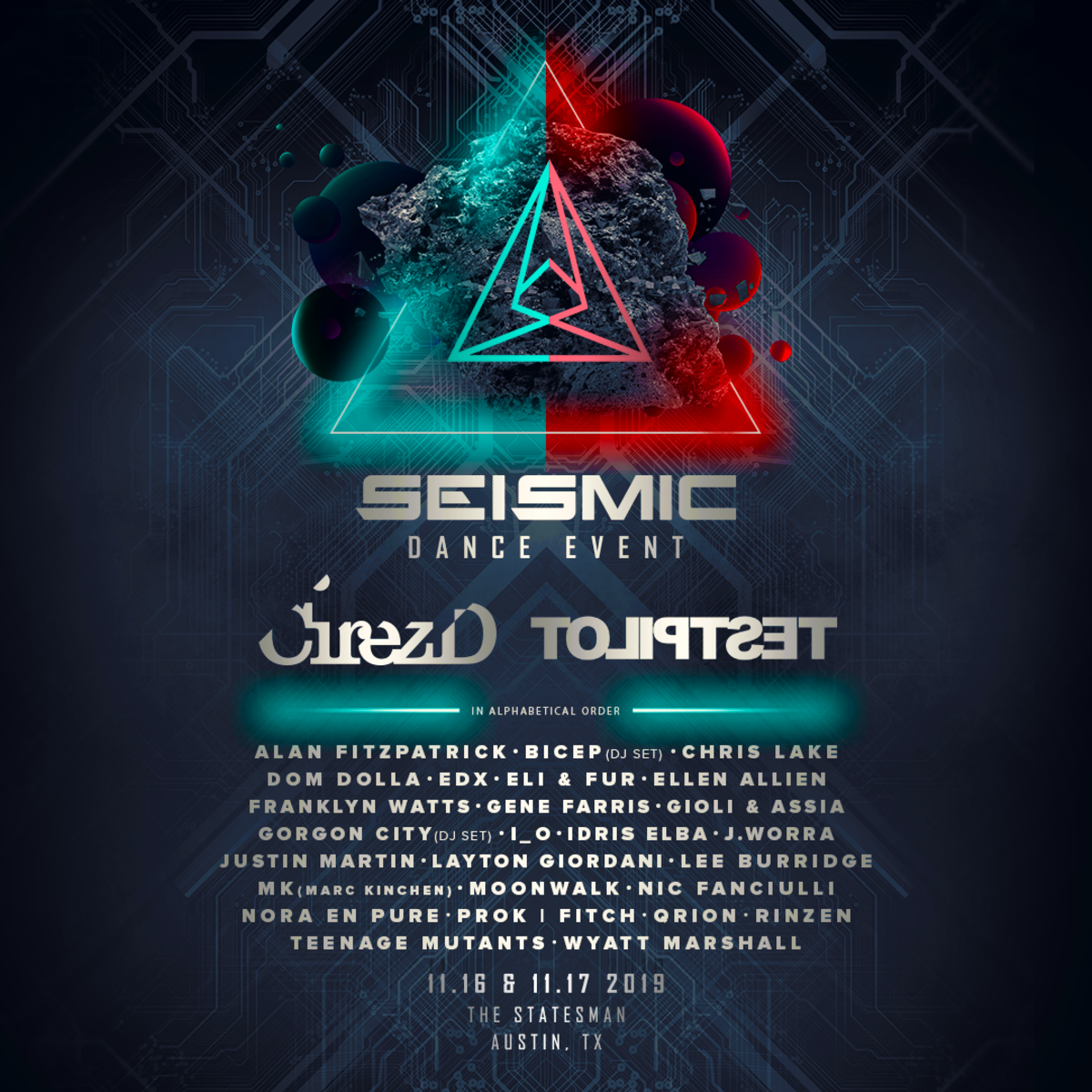 Seismic Dance Event 2019 Lineup