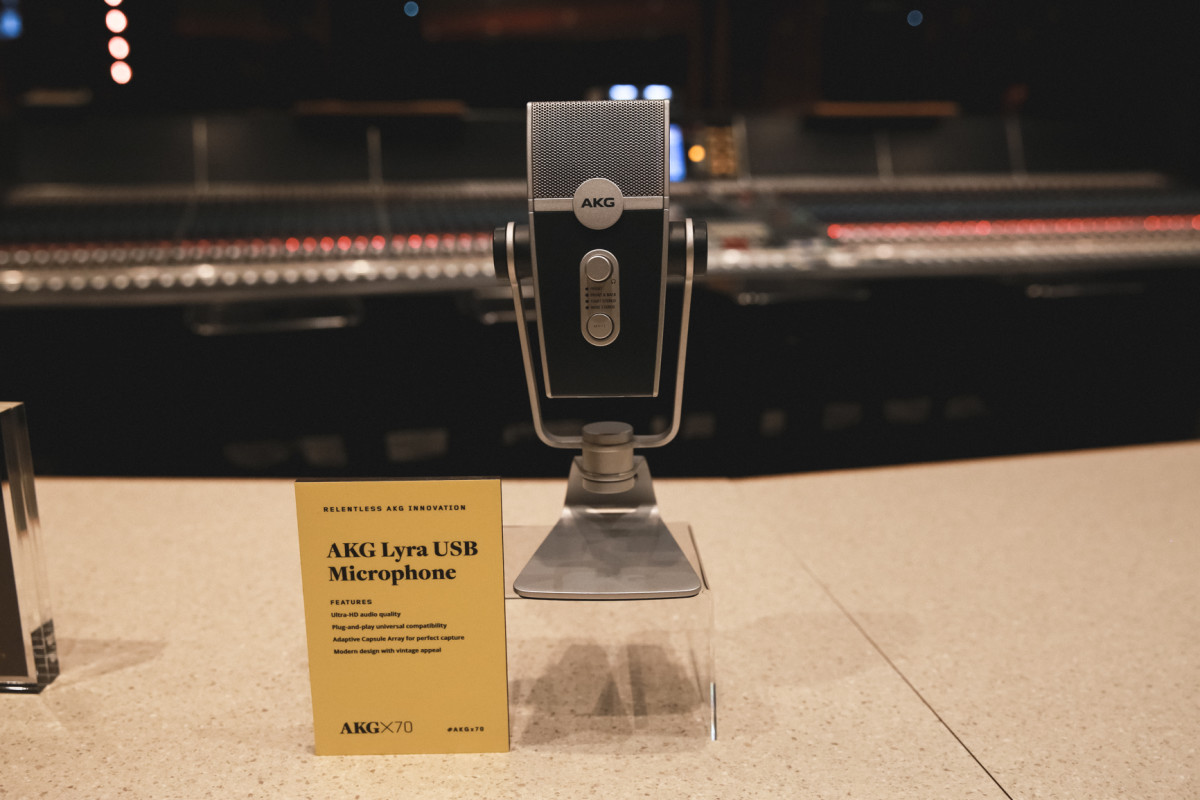 The AKG Lyra USB Microphone was a centerpiece in the celebration of AKG's 70th Anniversary.