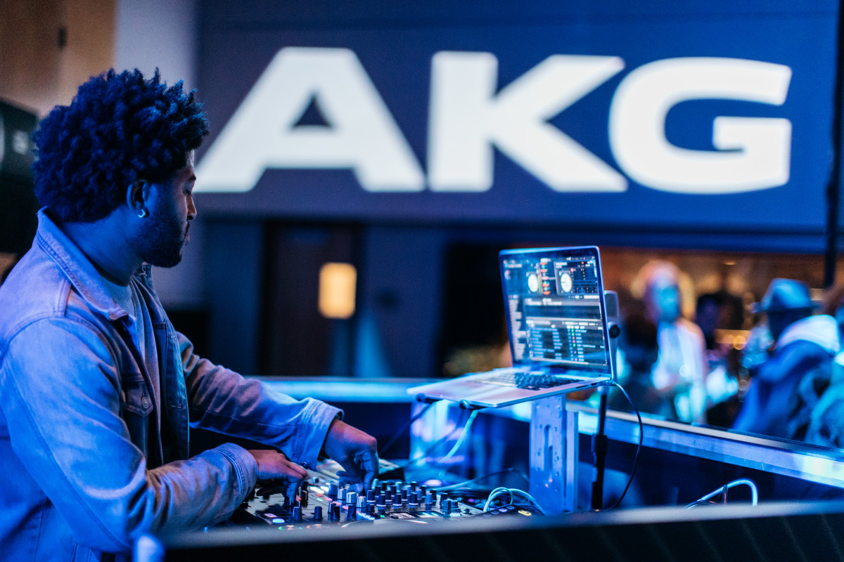 Austin Millz performs at the 70th Anniversary of AKG.