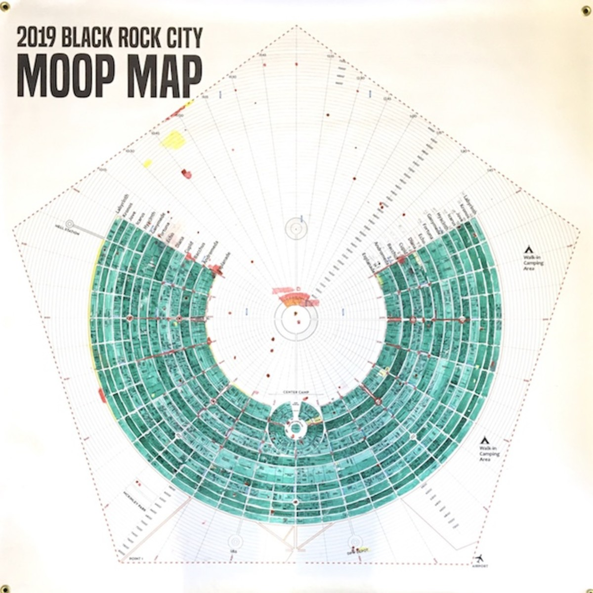 The preliminary Burning Man 2019 MOOP Map