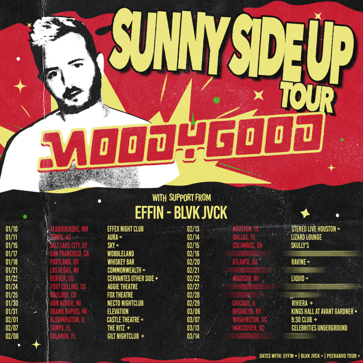 Moody Good Sunny Side Up Tour