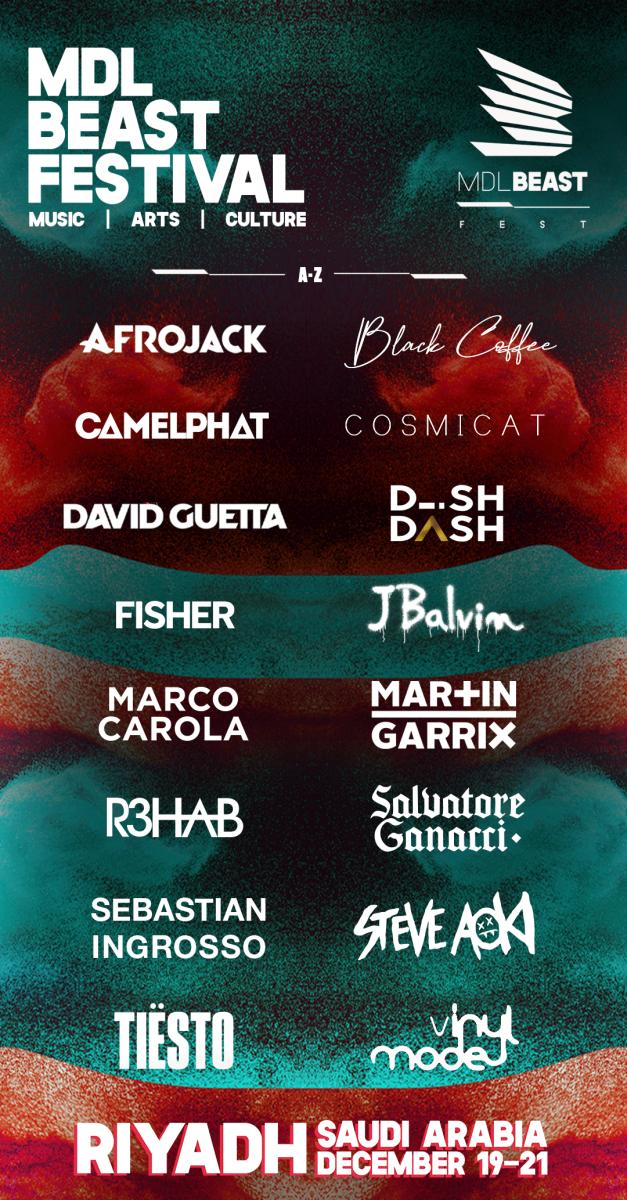 MDL Beast festival's 2019 headliners.