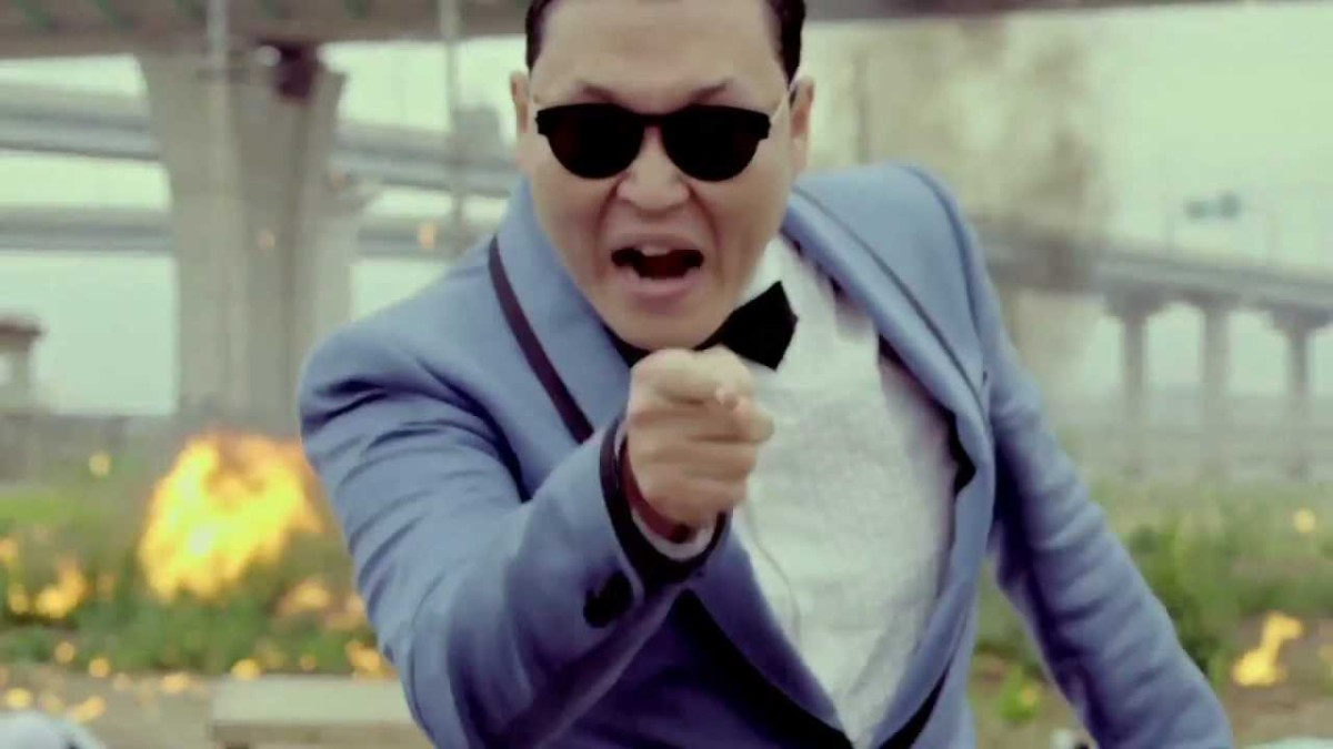 "Psy in the video for ""Gangnam Style."""