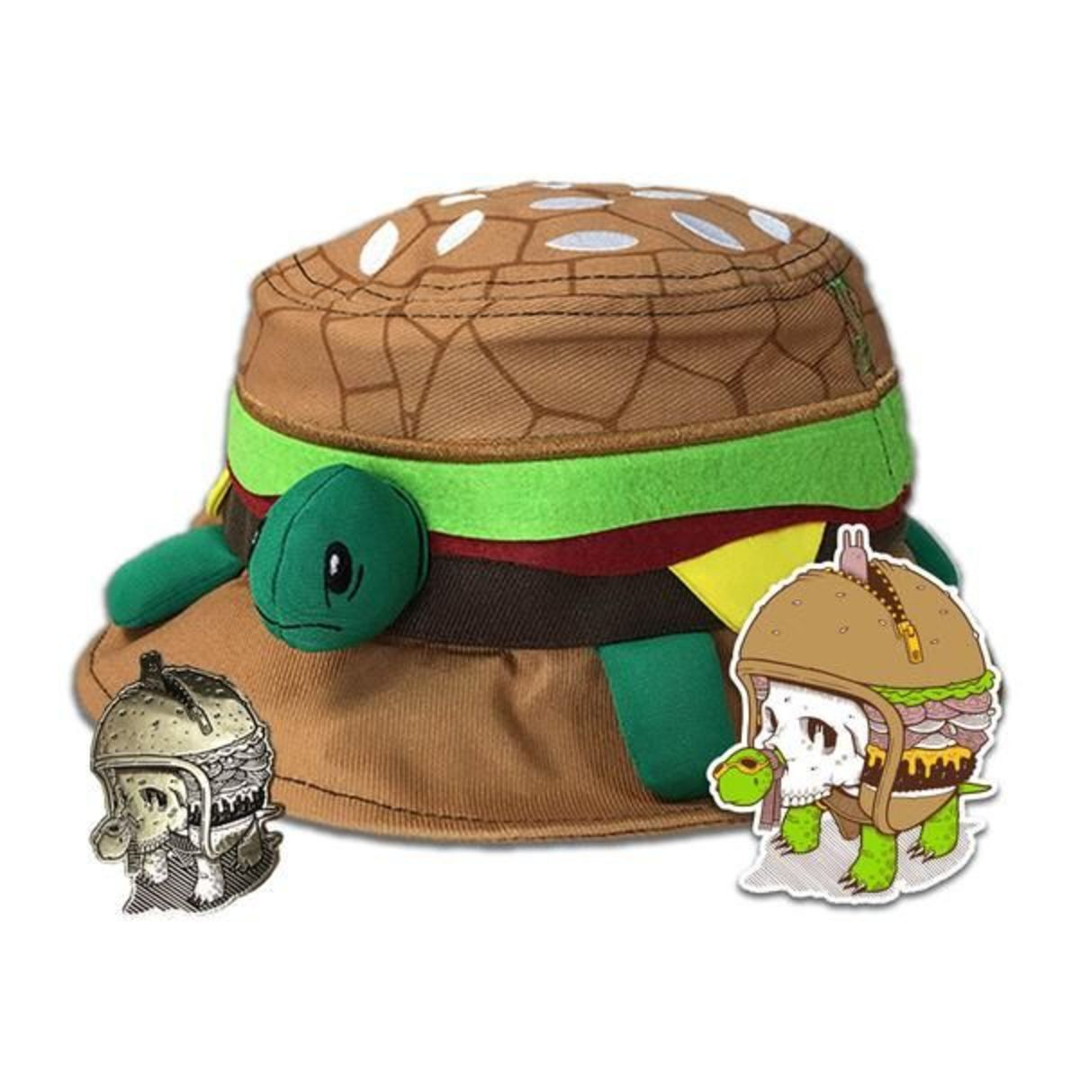 grassroots california turtle burger hat