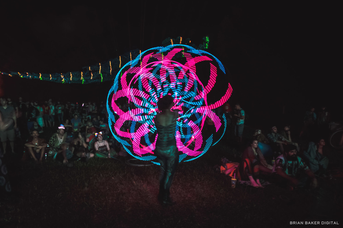 led hula hooper