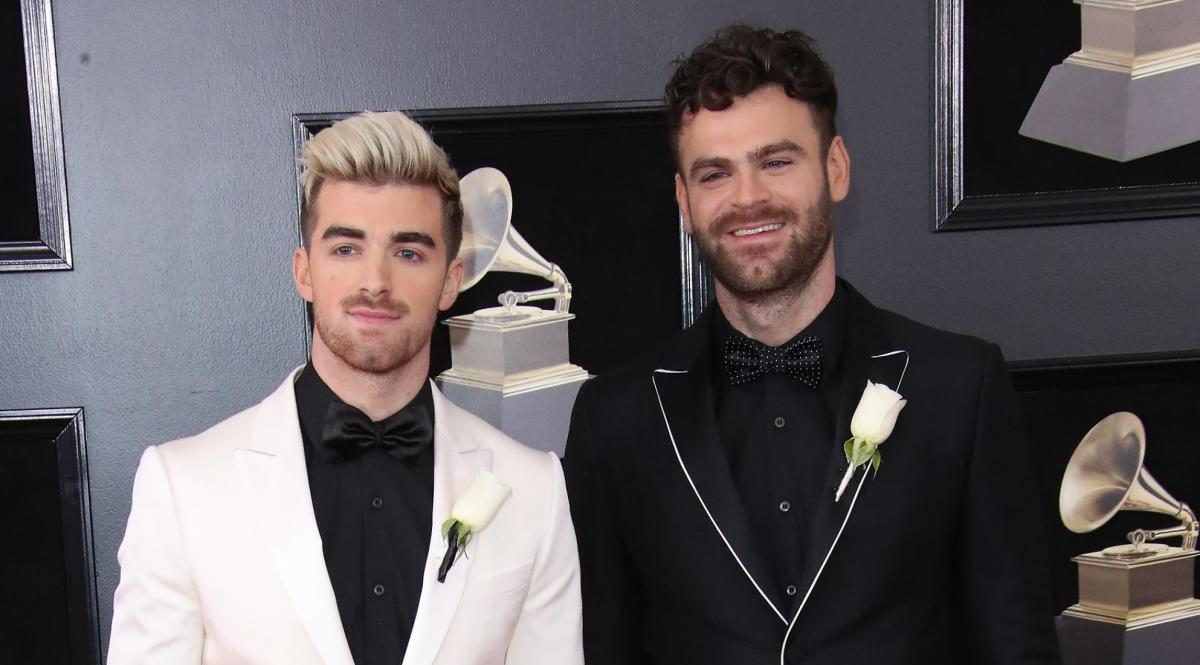 The Chainsmokers at The Grammy Awards ceremony.