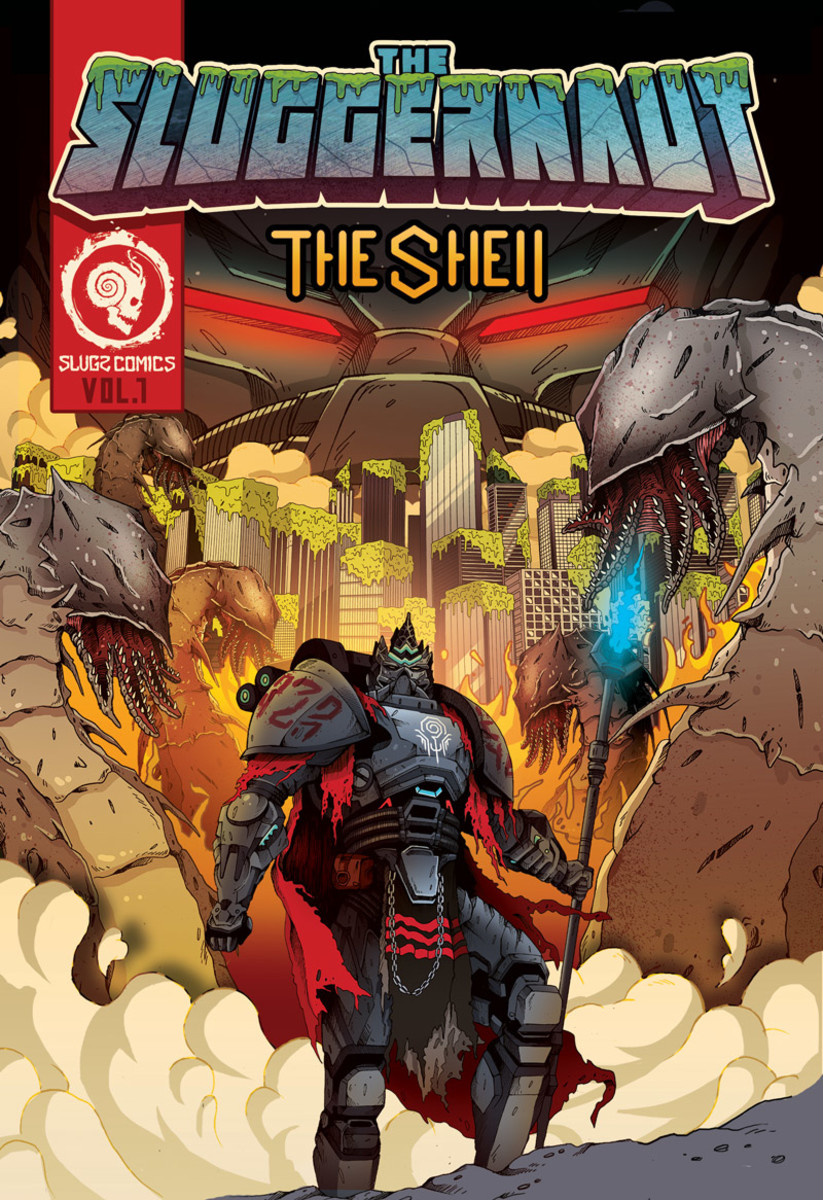 """""""The Sluggernaut,"""" which marks the first issue of Snails' comic book series, The Shell."""