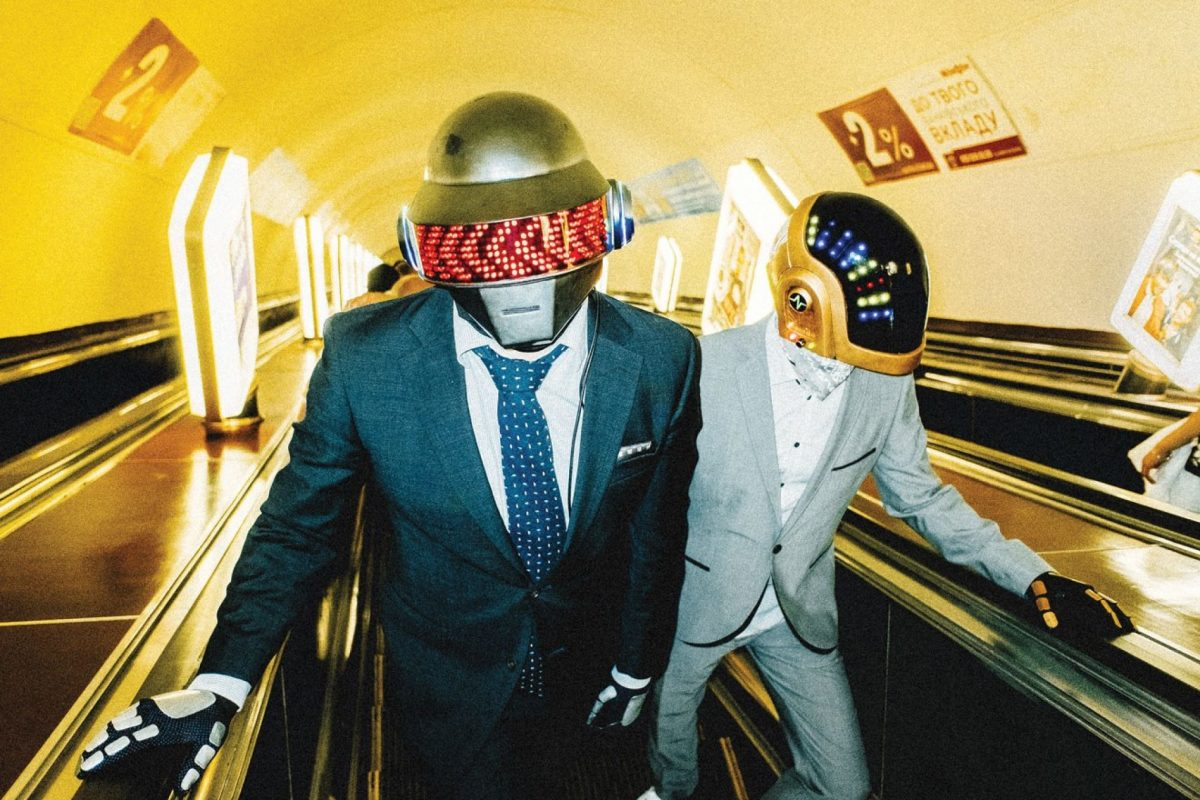 Daft Punk impersonators Taft Plunk.
