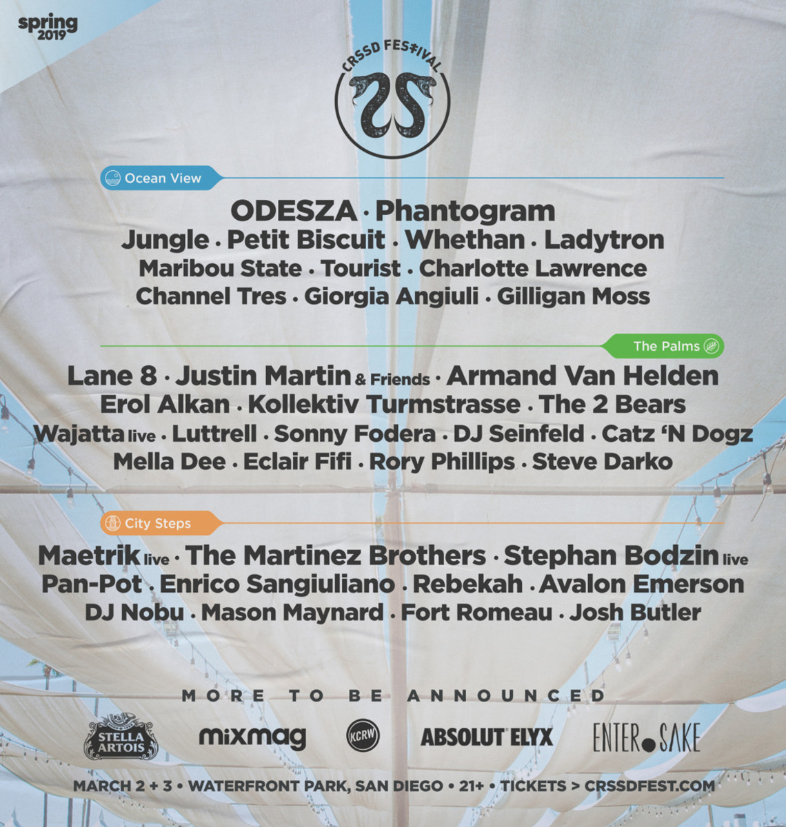 CRSSD Fest Spring '19 Lineup