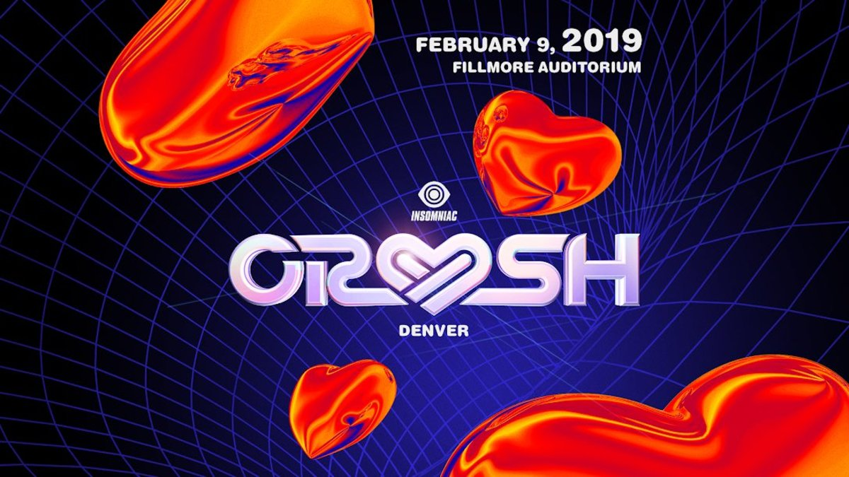 Flyer artwork for the first Crush Denver announcement via Insomniac.