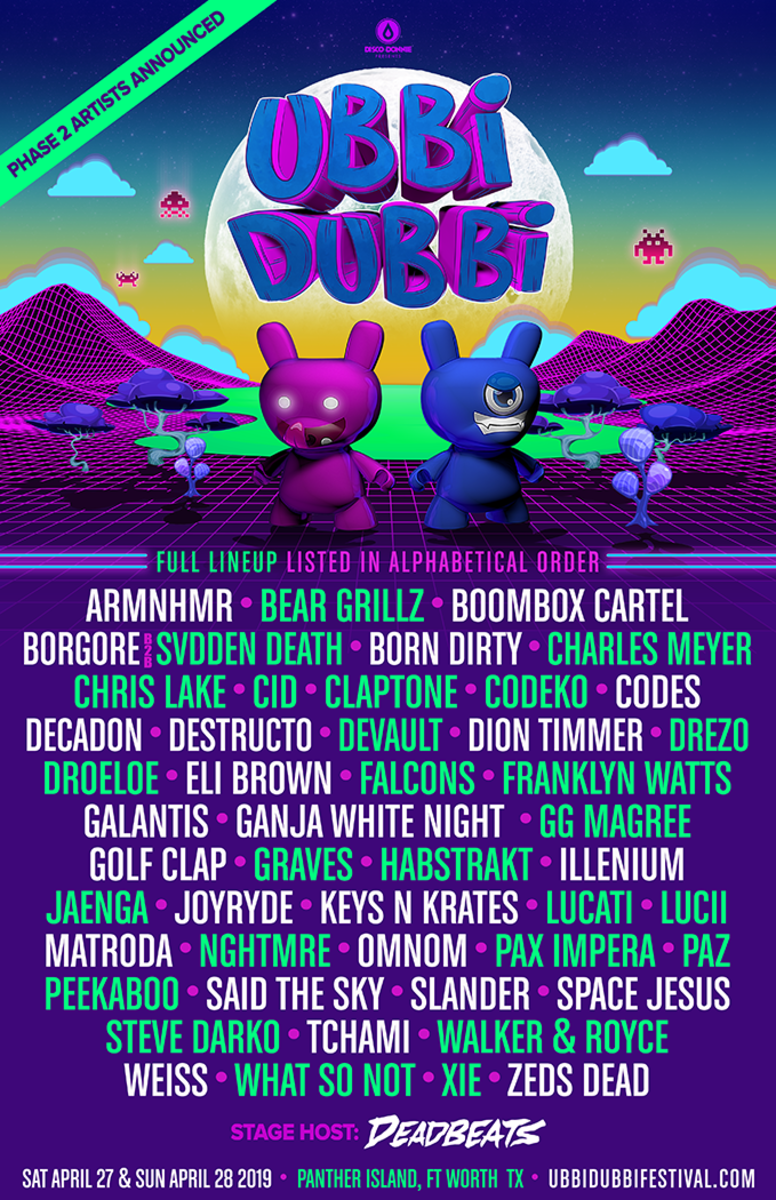 Ubbi Dubbi Festival - Phase 2 (Full Artist Announcements) via EDM.com