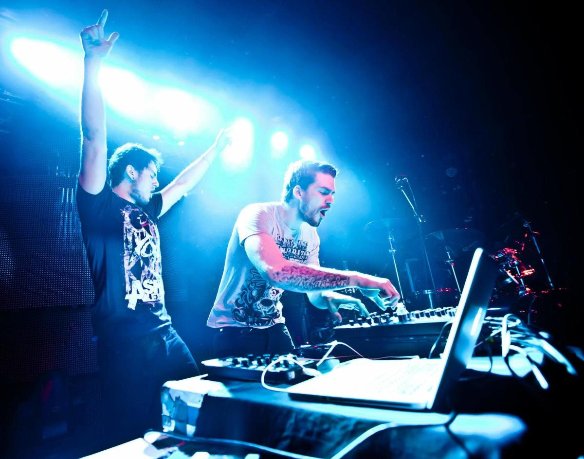 Canadian DJ/producer duo Adventure Club during a performance.