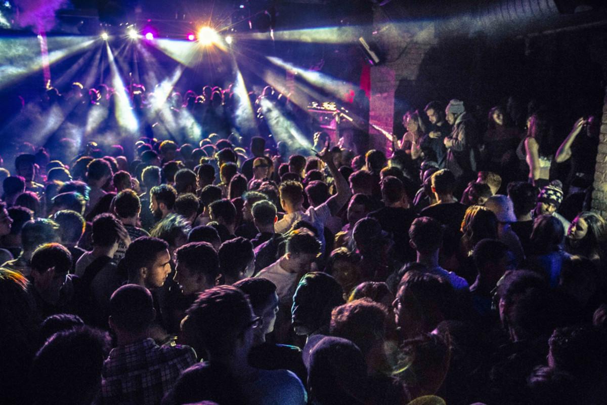 A crowd shot from Farrington nightclub Fabric London.