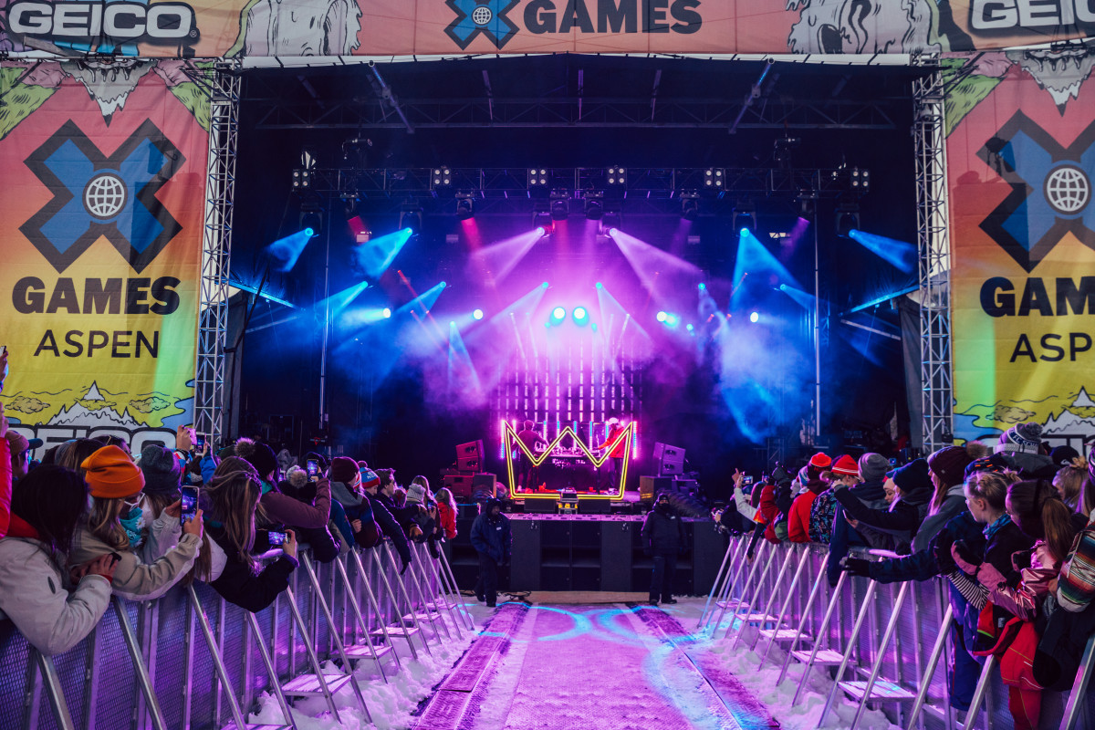 X Games Aspen 2019 - Music Stage during Louis The Child Performance - Buttermilk Mountain (EDM.com Feature)
