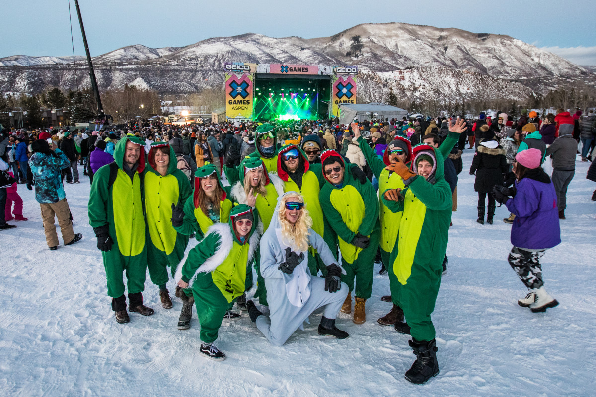 Fans in Costume at X Games Aspen 2019 - ESPN / Buttermilk Mountain (EDM.com Feature)