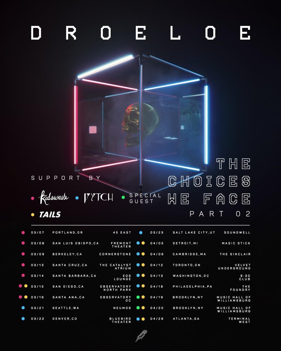 DROELOE The Choices WE Face Part 2 Tour Poster 2019