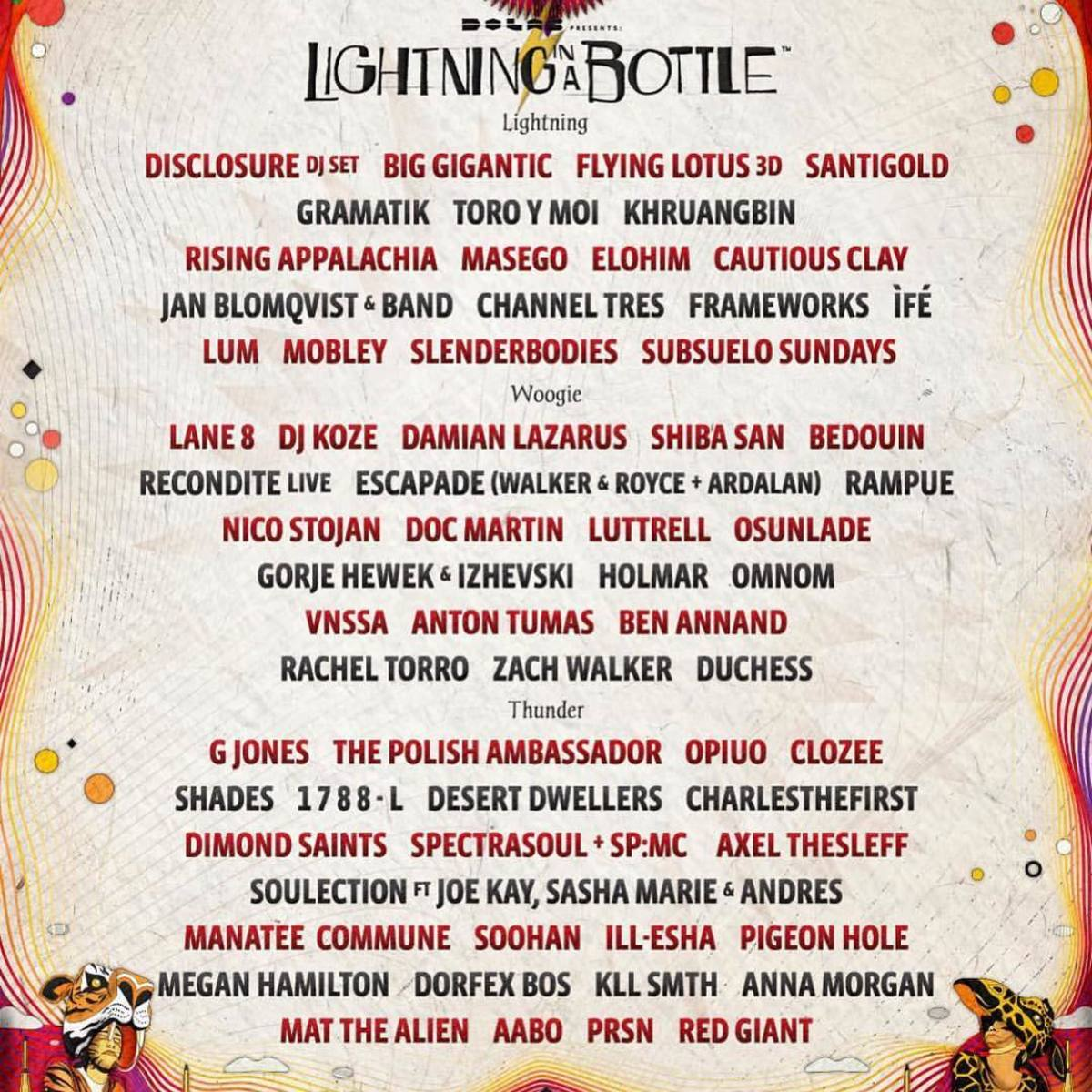 LIB 2019 lineup