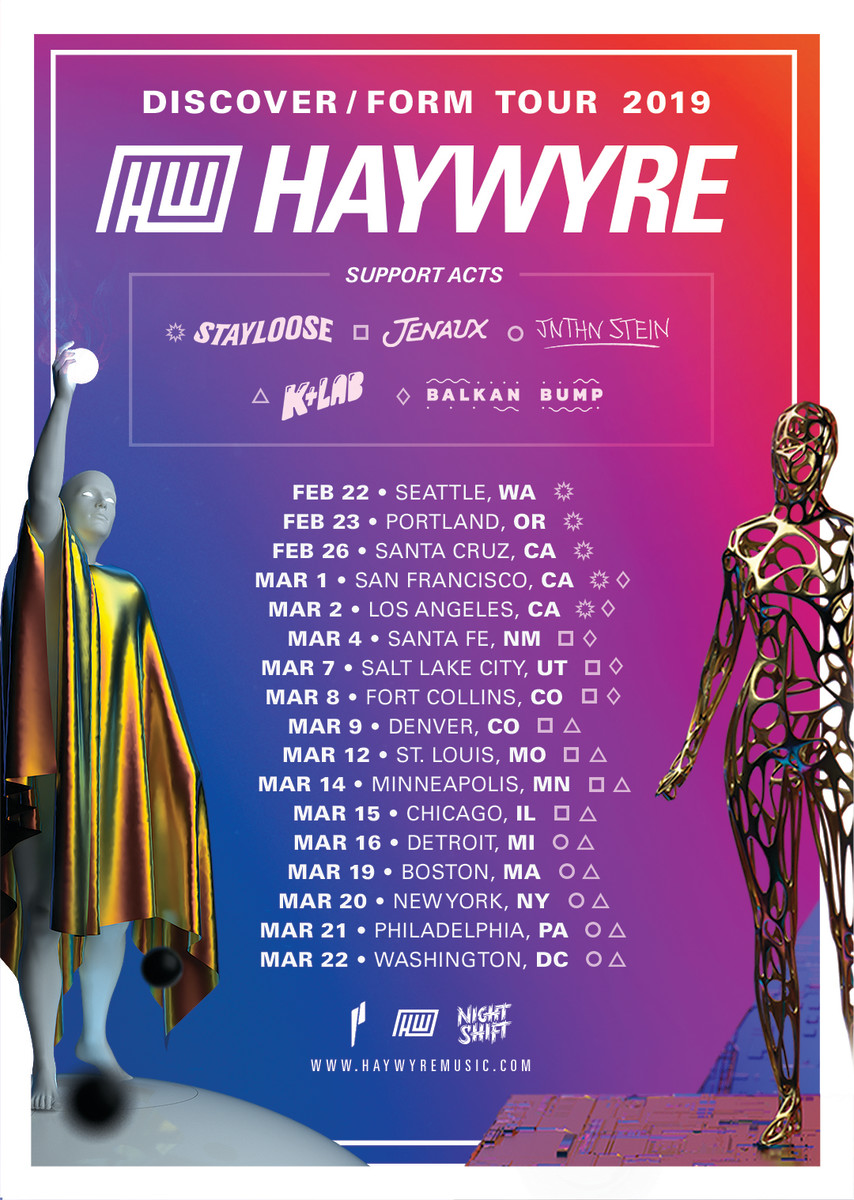 Haywyre Discover / Form Tour 2019 w/ Supporting Acts STAYLOOSE, Jenaux, JNTHN Stein, K+Lab, and More! (EDM.com Feature)