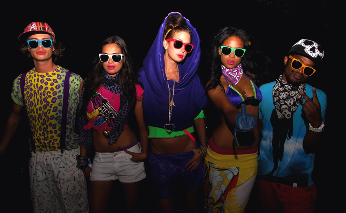 EDM lovers showing off their favorite festival outfits.