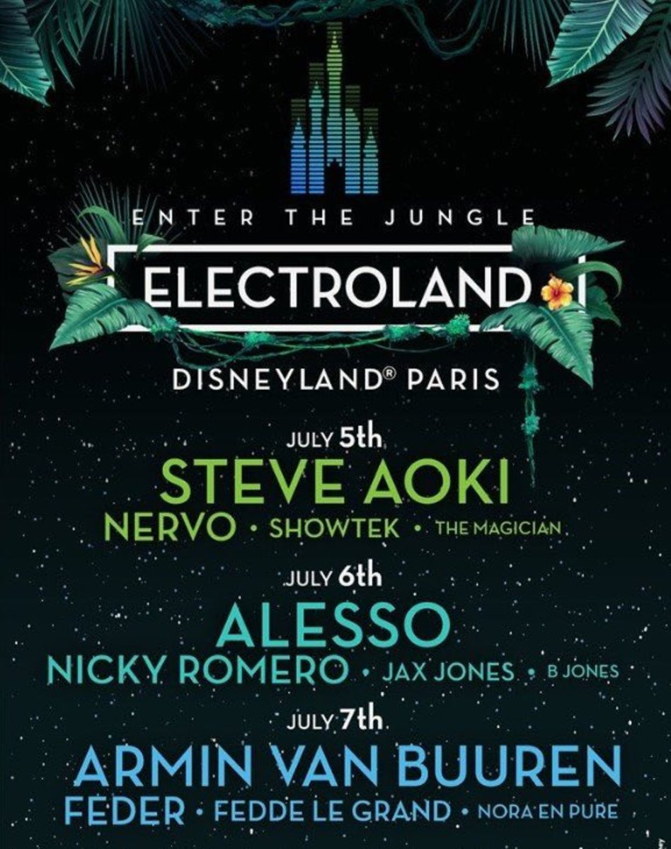 Disneyland Paris Discloses Stacked Electroland Festival Lineup