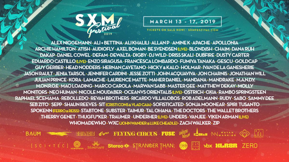 SXM Lineup