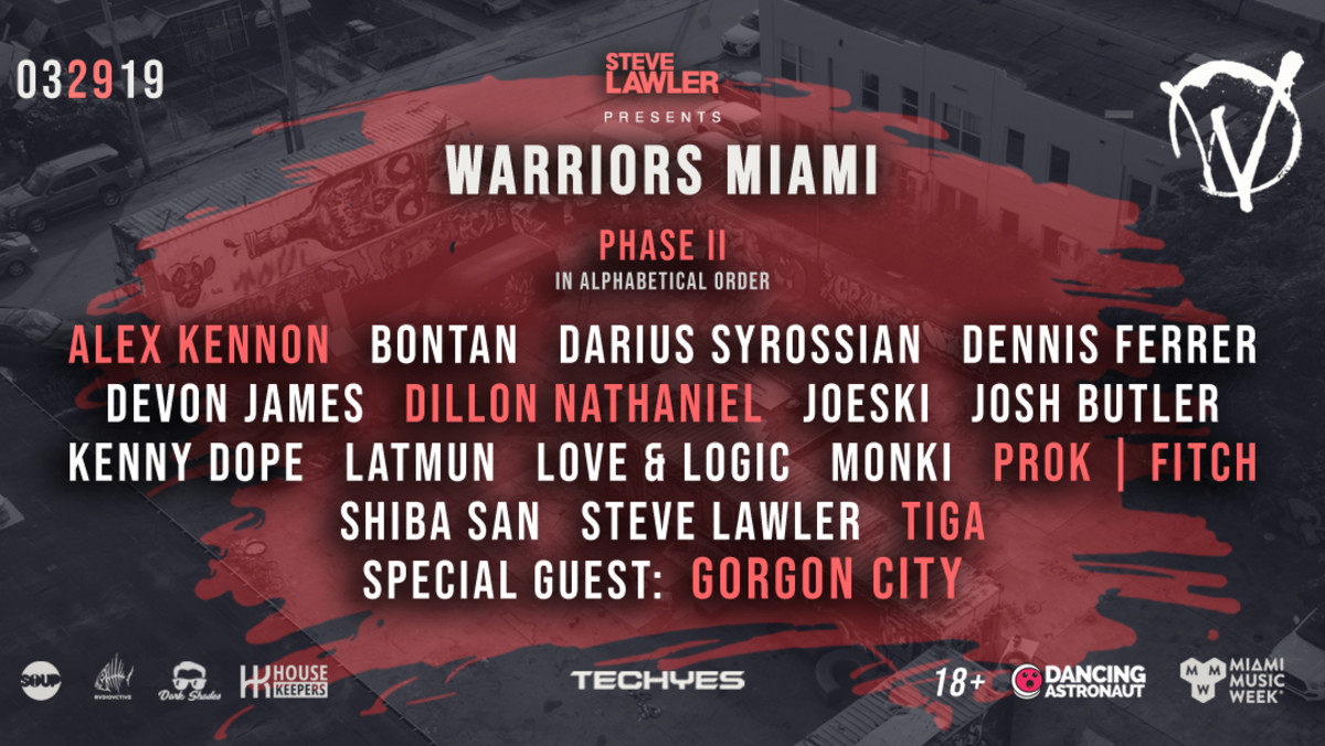 Steve Lawler Presents: Warriors Miami Party (Miami Music Week) ft Gorgon City, Shiba San and many more (EDM.com Feature)