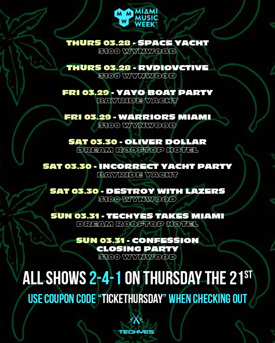 SXS Presents Parties at Miami Music Week 2019 (Space Yacht, RVDIOVCTIVE, YAYO BOAT PARTY, WARRIORS MIAMI, INCORRECT YACHT PARTY, DESTROY WITH LAZERS, Etc.) - EDM.com Feature