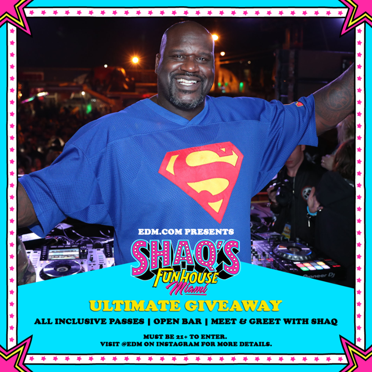 Shaq's Fun House Miami giveaway.