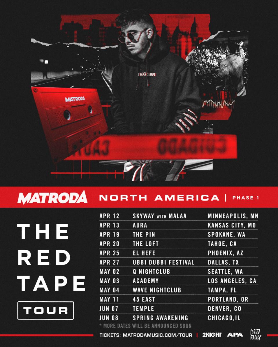 MATRODA - The Red Tape Tour (North America) -- EDM.com Feature