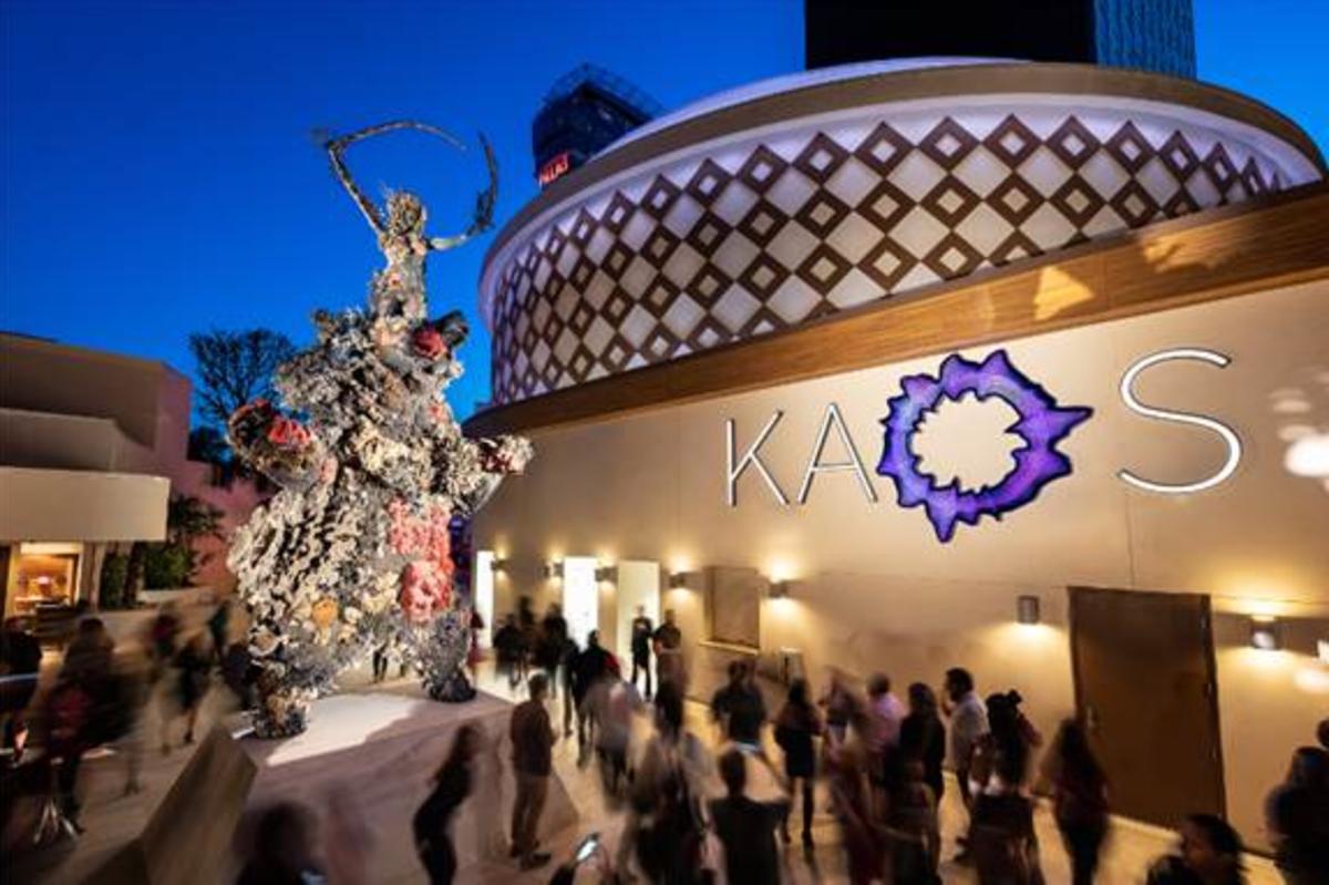 "Damien Hirst's ""Warrior and Bear"" statue at KAOS. Photo: Palms Casino Resort"