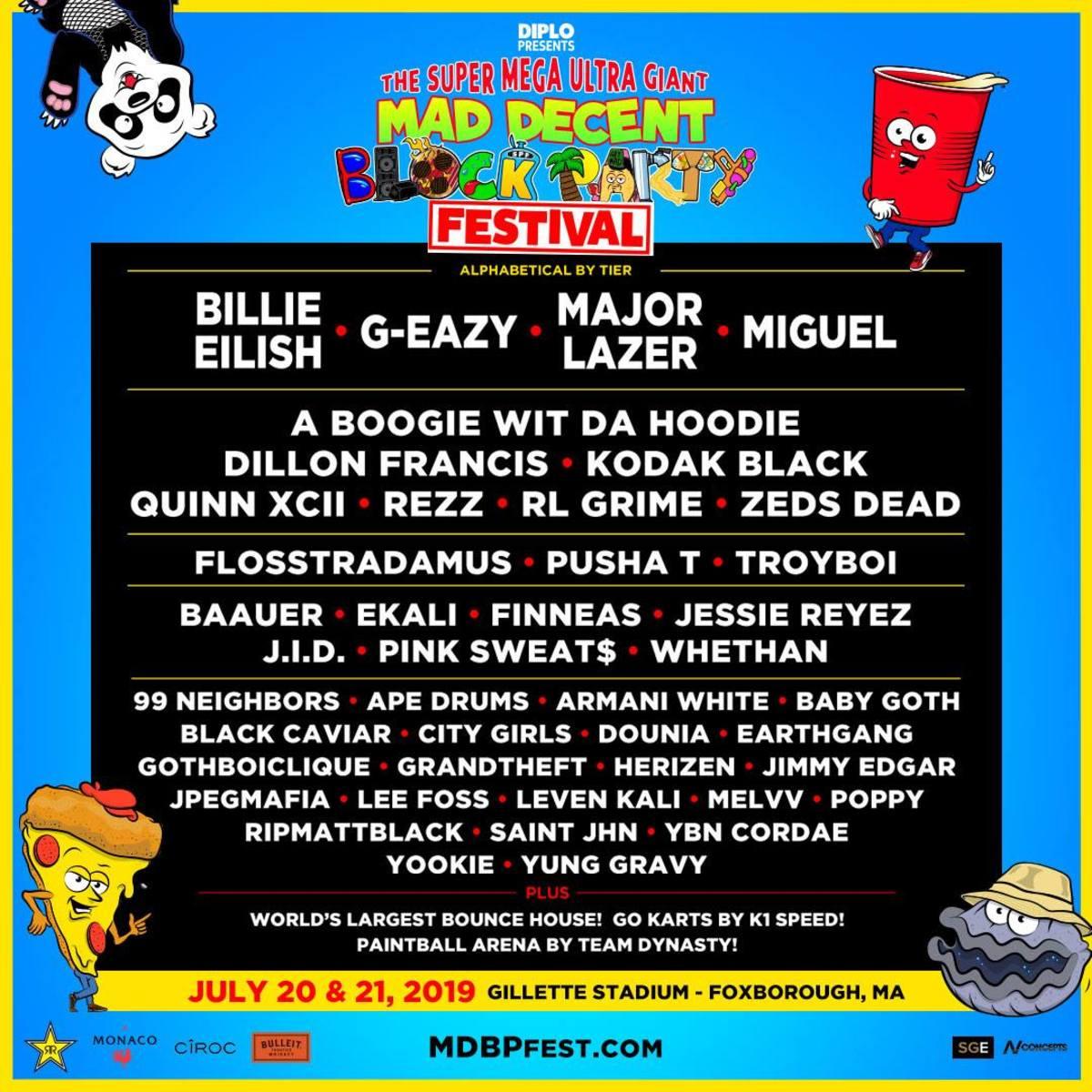 Super Mega Ultra Giant Mad Decent Block Party Festival Lineup