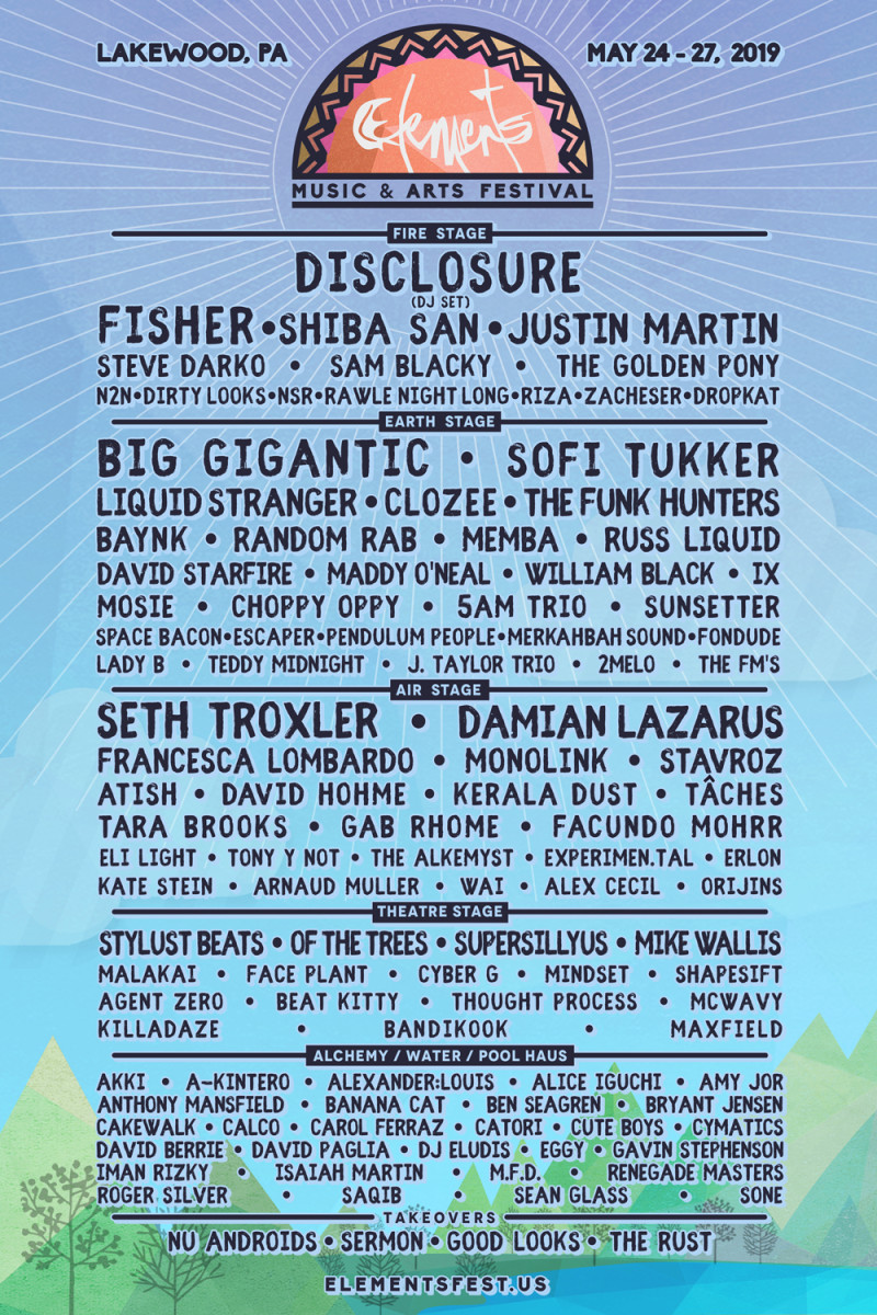 Elements Lakewood 2019 Lineup