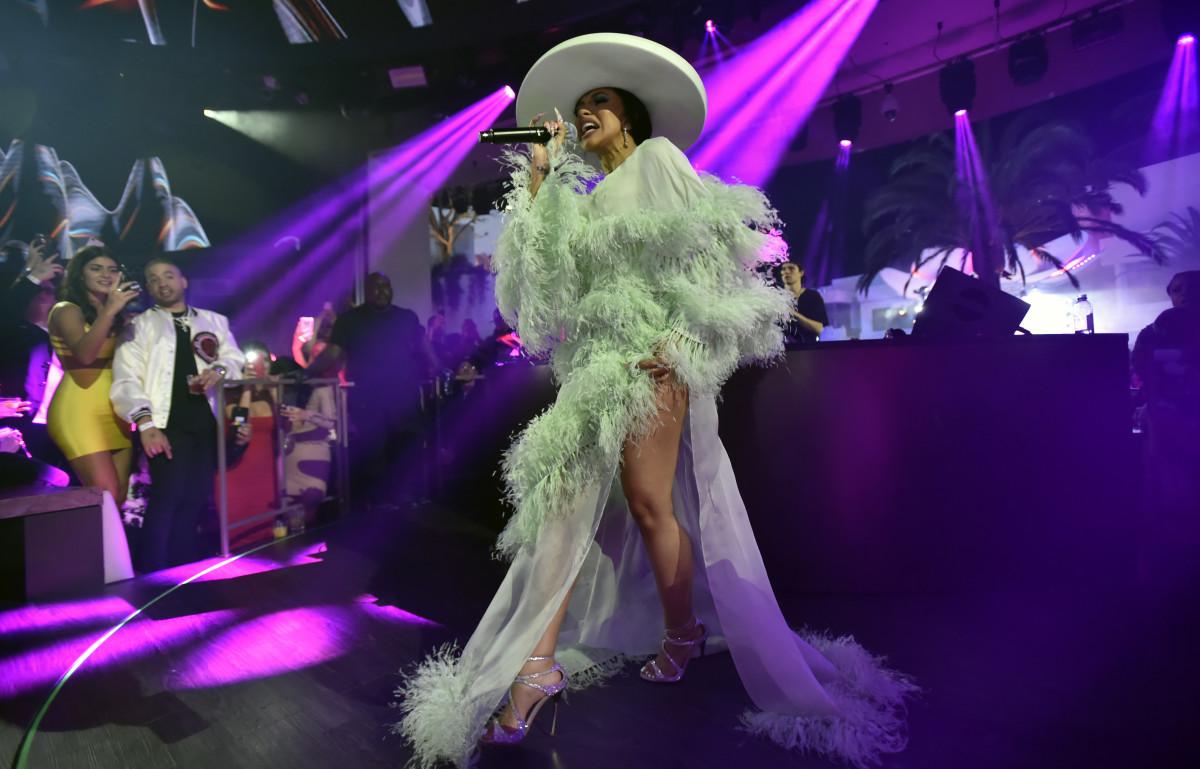 Cardi B performing at KAOS nightclub. Photo: Palms Casino Resort