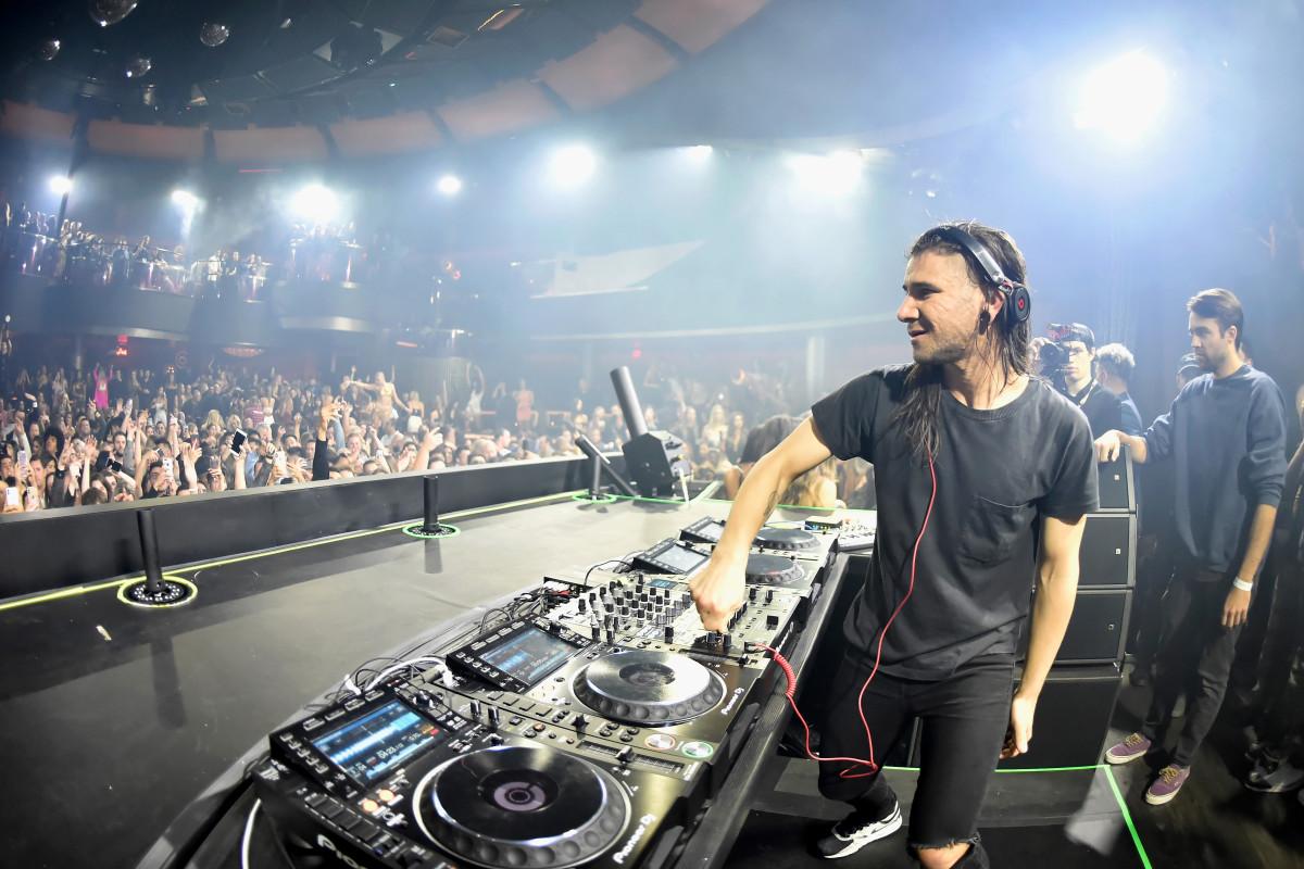 Skrillex performing at KAOS nightclub. Photo: Palms Casino Resort
